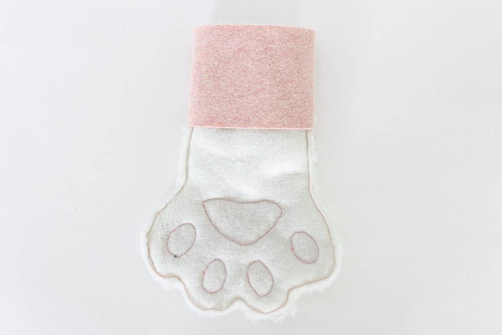 Sewing a pet Christmas stocking