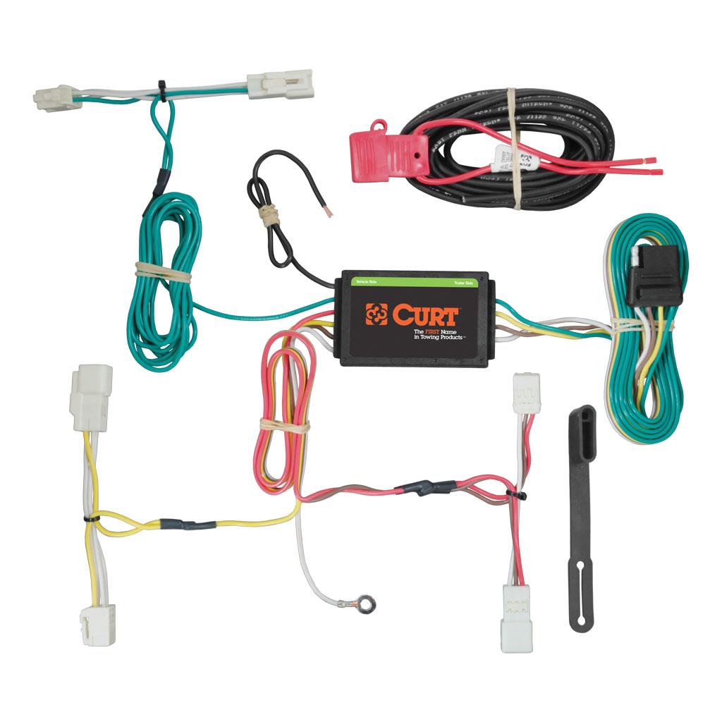 4 way flat light connector wiring diagram 99 00 civic radio curt manufacturing custom harness 56261