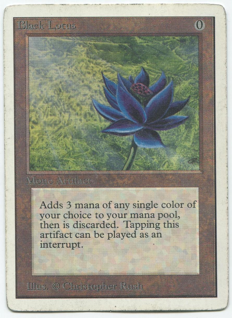 Black Gathering Magic Lotus Card