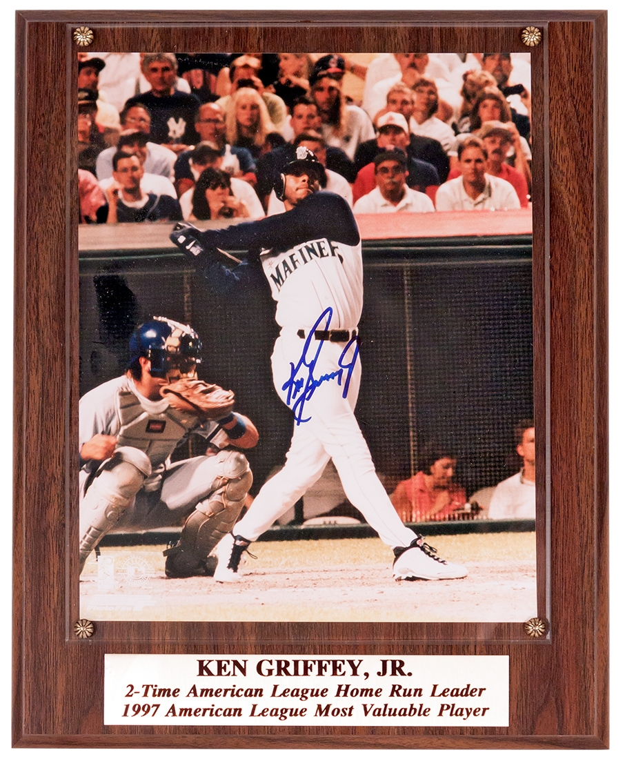 Ken Griffey Jr Gold Plques