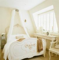 Romantic White Bed In French Country Style Bedroom ...