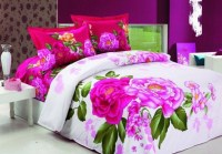 Bedroom Design Idea With Pink Floral Bedding Sheets