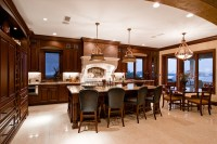 Luxury Kitchen And Dining Room Design With Elegant ...