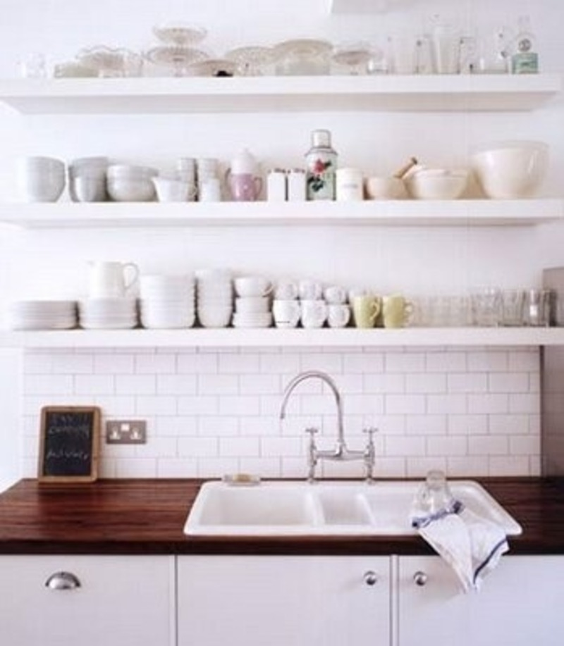 Kitchen Open Shelves Photos Design Bookmark #5335