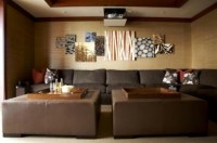 Asian Media Room Design, Pictures, Remodel, Decor And