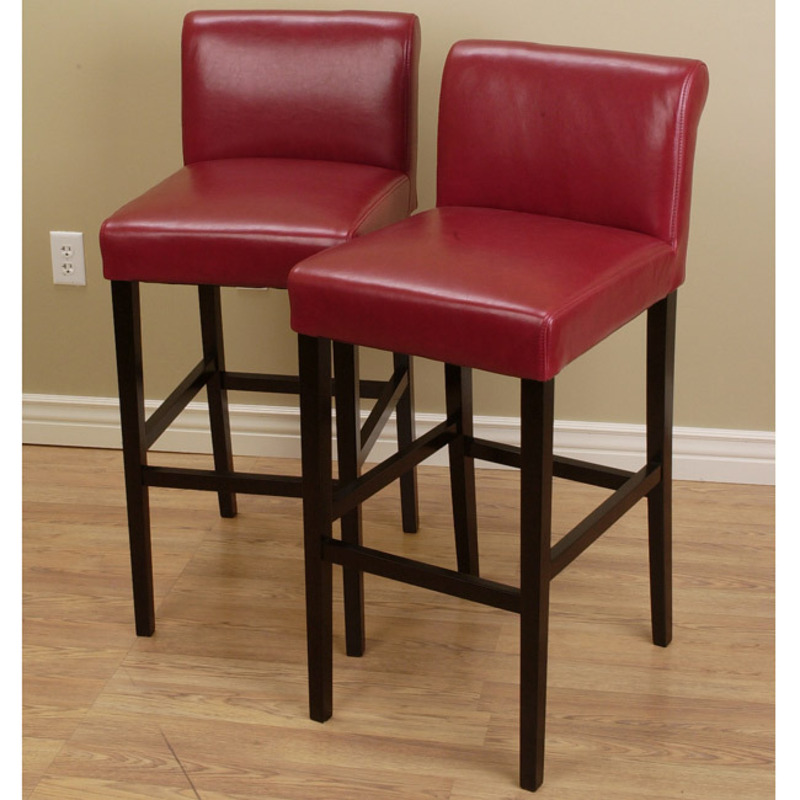 parson chairs cheap purple dining canada cosmopolitan burnt red leather counter stools (set of 2) / design bookmark #8063