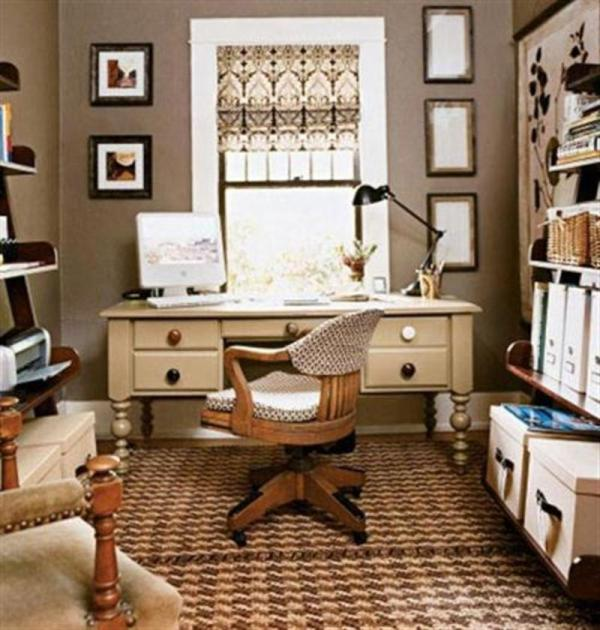 Variety Of Small Home Office Space Design And Decorating