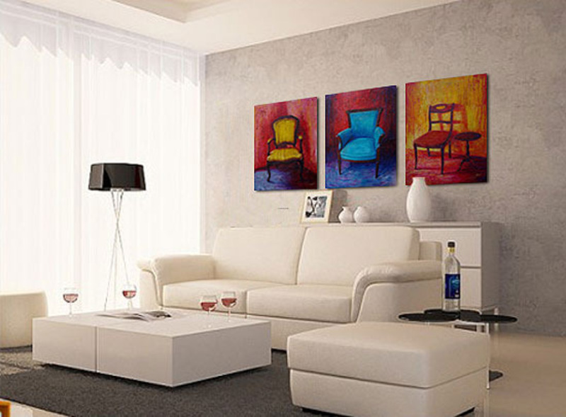 Artistic Living Room Design Ideas With Wall Art Paintings