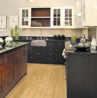 Attic Mag  Blog Archive  Black, White And Wood Kitchen ...