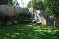 Corner Backyard Landscape  Small Backyard Landscaping ...