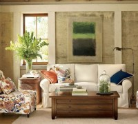 Blend Of Classic And Retro Style In Vintage Living Room ...