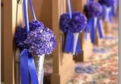 Ideas For Decorating Church Pews For Wedding