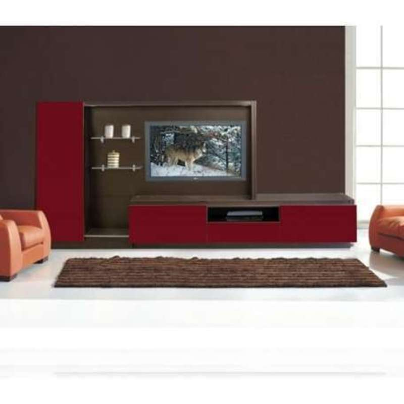 Luxury Wall Mounted Modern Tv Cabinets In Black With Glass