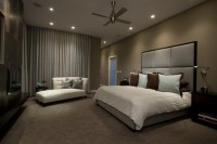 Dark Brown Wall Color Themes And Modern Carpets In