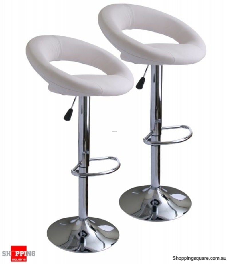 2 X Leather Bar Stool Kitchen Chairs  design bookmark 19988