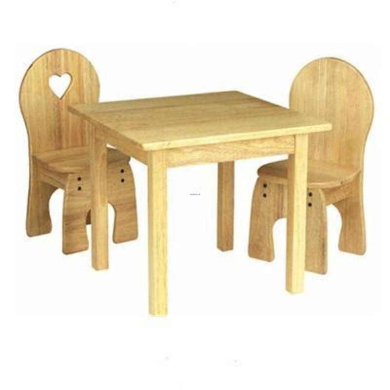 Wood Table And Chairs Wooden Kids Furniture Kids Room