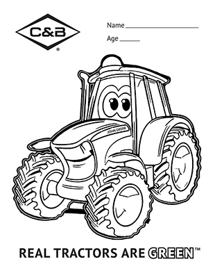 Real Tractors are Green Coloring Contest Thank You • C & B