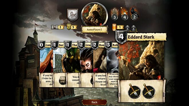 A Game of Thrones: The Board Game - Cartes de capture d'écran de l'édition numérique