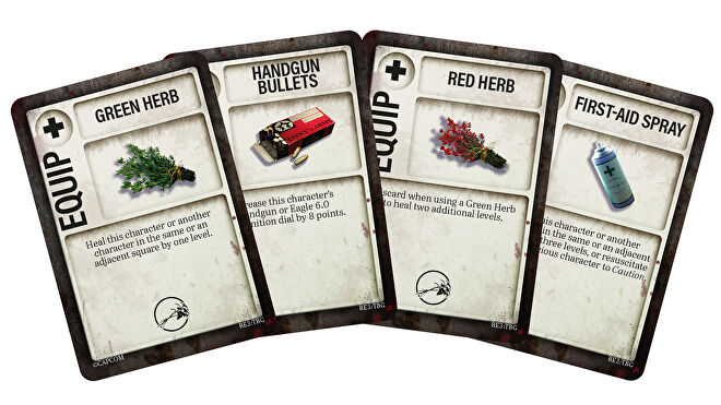 Resident Evil 3: The Board Game Item Cards