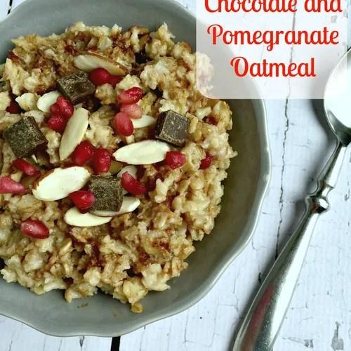 Dark Chocolate and Pomegranate Oatmeal