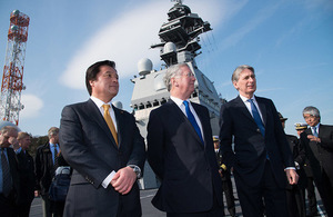 Defence Secretary Michael Fallon and Foreign Secretary Philip Hammond during the visit to Japan. Copyright British Embassy/Michael Feather