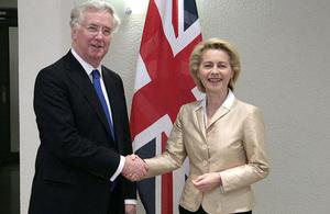 Defence Secretary Michael Fallon and Dr Von der Leyen