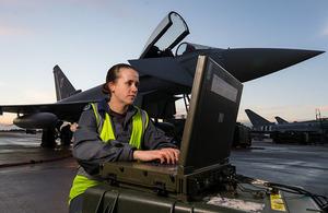 Senior Aircraftsman (Technician) Polly McKinlay RAF Avionics Technician