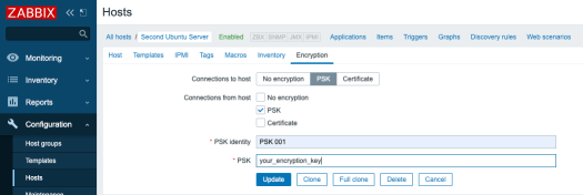 Setting up the encryption