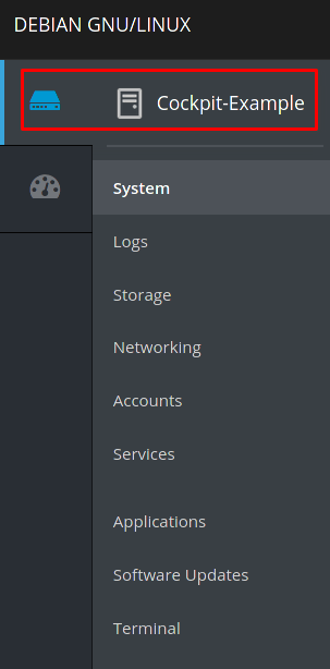 Image highlighting the detailed administration icon