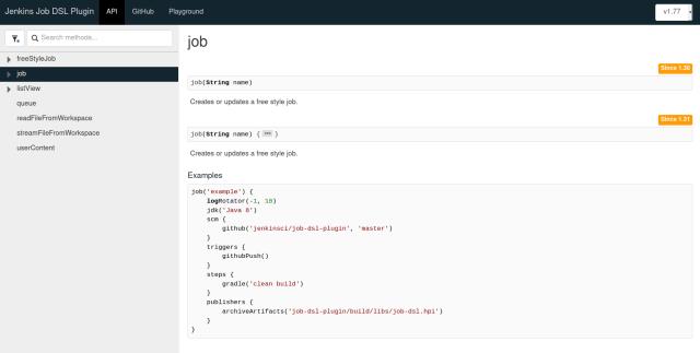 job API method reference