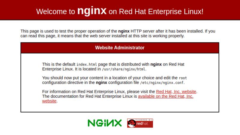 Default Nginx Page CentOS 8