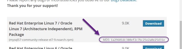 Screencapture highlighting md5dsum