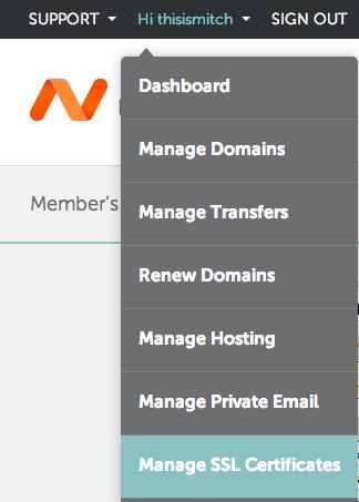 Namecheap: SSL