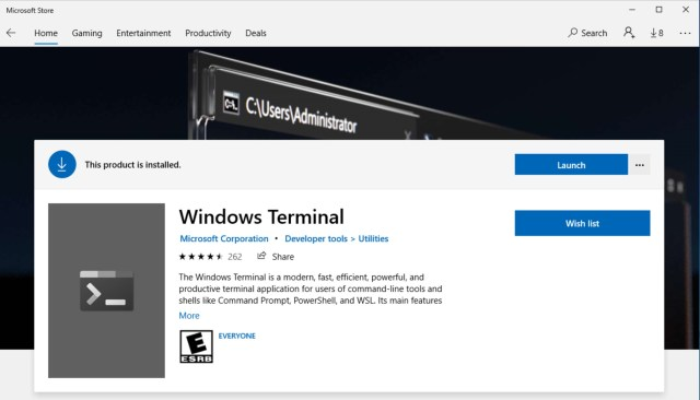 Get and Install the Windows Terminal. Then click launch