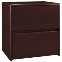 Bush 2 Drawer Lateral Cherry Wood Filing Cabinet
