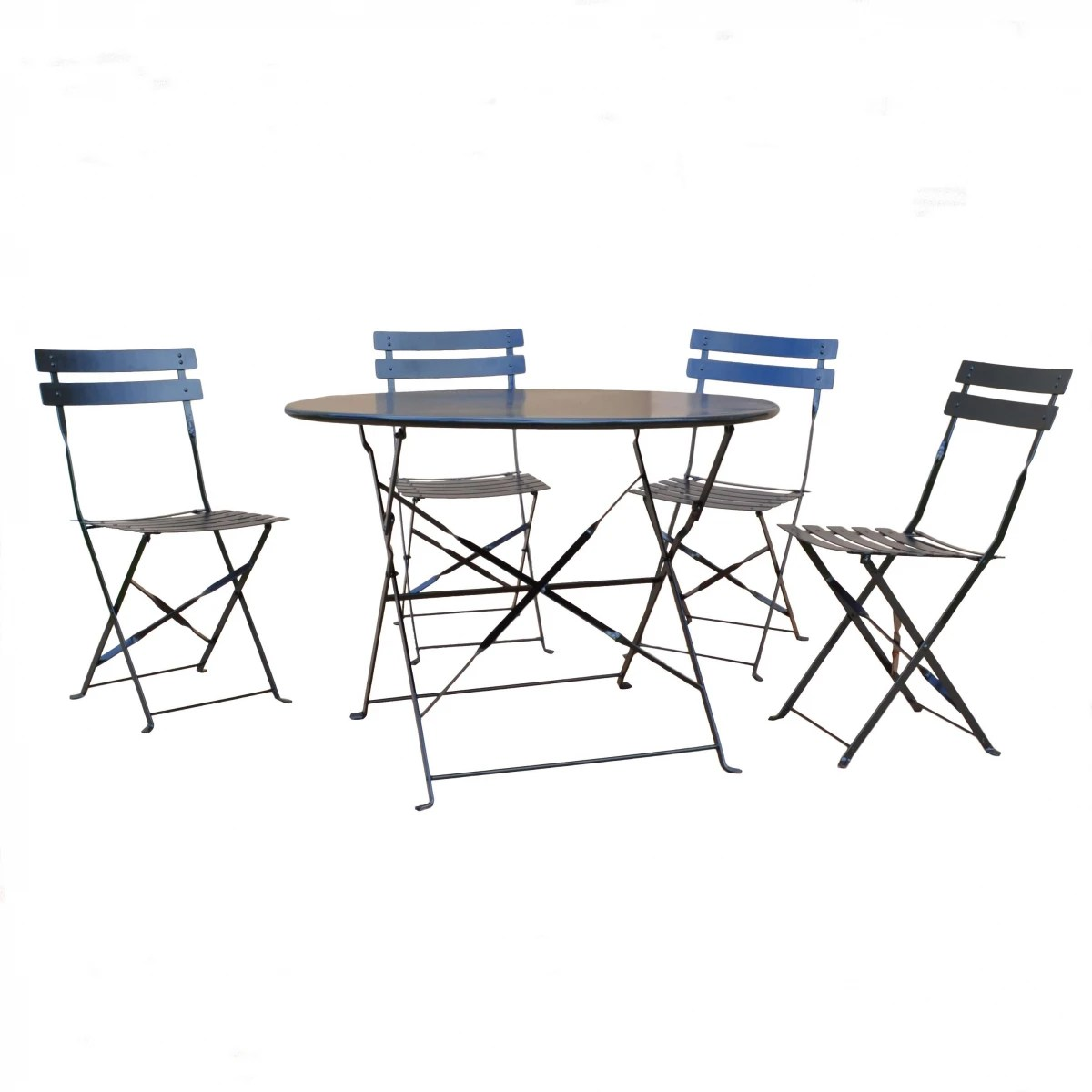 Carolina Chair Amp Table Malibu Onyx Black 5 Piece Bistro Set