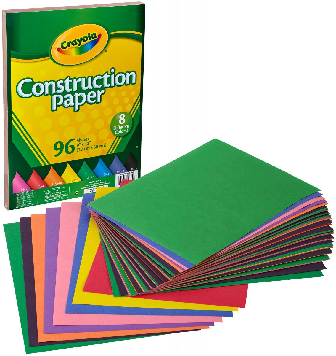 Crayola Construction Paper Pad 9 X12 96 Sheets Contains Pack Of 6