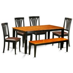 6 Piece Kitchen Table Sets Cabinet Costs East West Furniture Nicoli Set