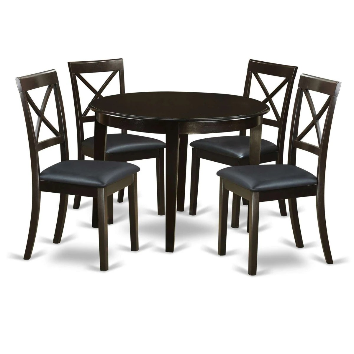 East West Furniture Boston 5 Piece Table Set  Round Table