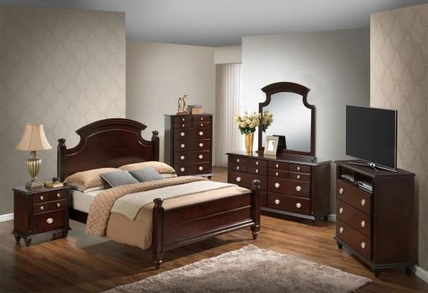 Glory Cappuccino Full 6-piece Bedroom Set Bandit