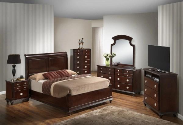 Glory Cappuccino Queen 6-piece Bedroom Set With Panel