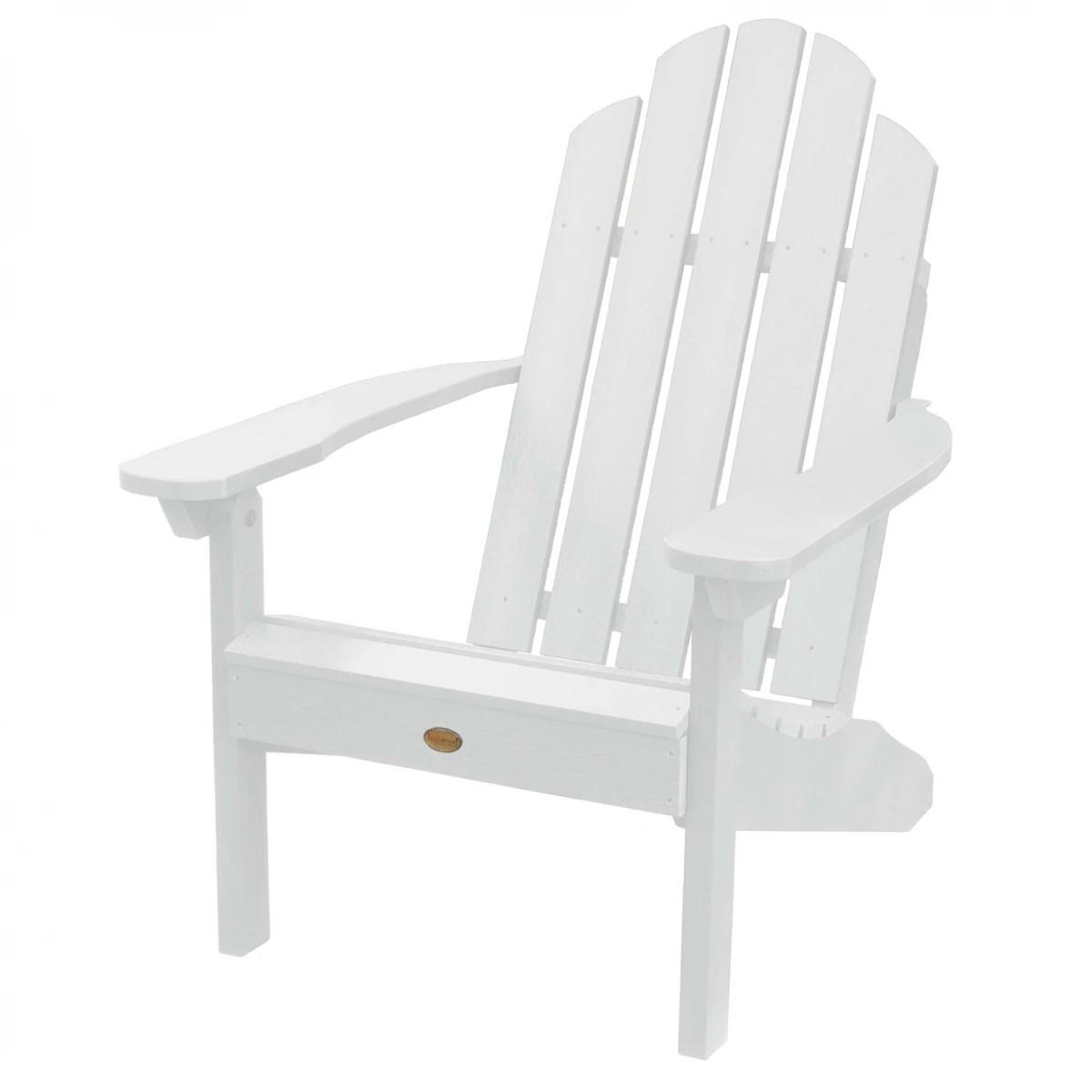 Highwood Classic Westport Adirondack Chair in White