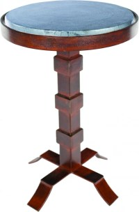 Prima Design Source Round Iron Accent Table with Hammered ...