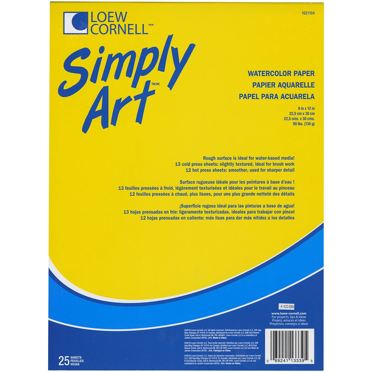 Sanford Simply Art Watercolor Paper Pad 9 X12 25 Sheets Contains Pack Of 3