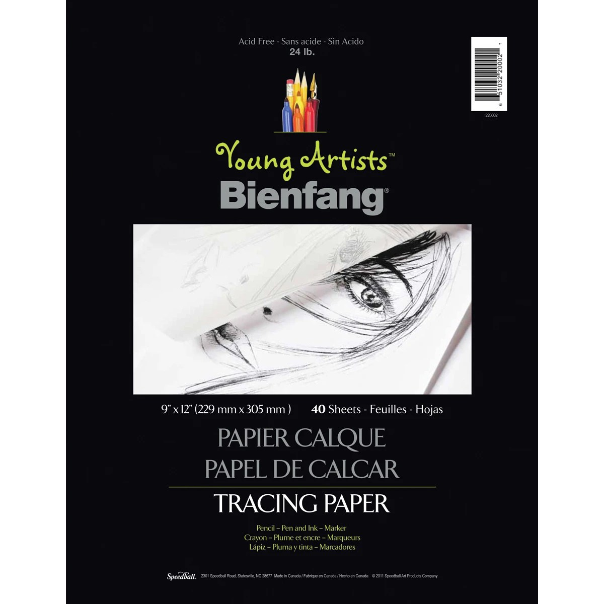 Speedball Art Products Young Artists Tracing Paper 9 X12 40 Sheets Contains Pack Of 3