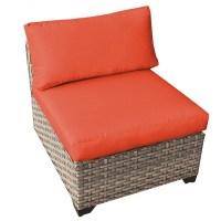 TK Classics TKC Monterey Armless Patio Chair in Orange