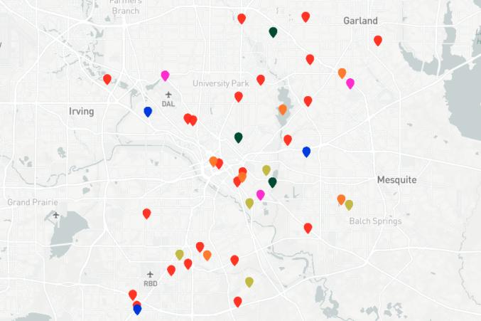Dallas Crime Map 2017