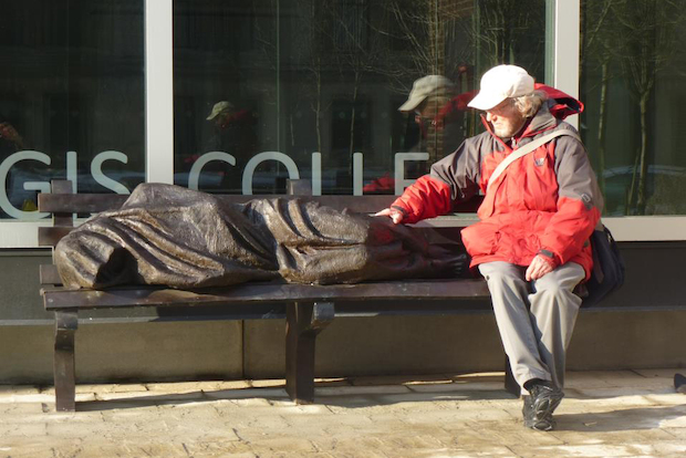 Jesus The Homeless Statue Coming To Chicago River