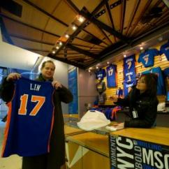 Square Kitchen Island Sink Cabinets Jeremy Lin Jerseys A Slam Dunk At Madison Garden ...