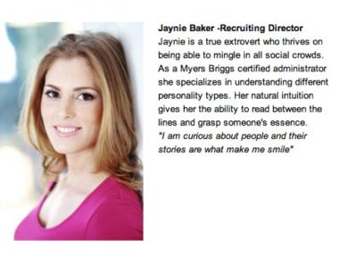 Jaynie Baker on the VIP Life's website.